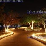 Bahçe led ışık süsleme