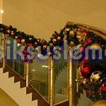 yılbaşı merdiven süsleme